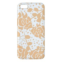 Floral Wallpaper Peach Iphone 5s Premium Hardshell Case by ImpressiveMoments
