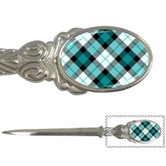 Smart Plaid Teal Letter Openers by ImpressiveMoments