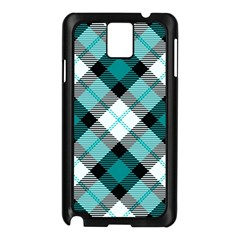 Smart Plaid Teal Samsung Galaxy Note 3 N9005 Case (black) by ImpressiveMoments