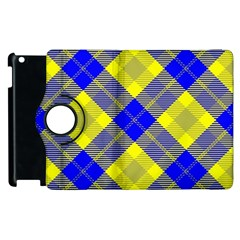 Smart Plaid Blue Yellow Apple Ipad 3/4 Flip 360 Case