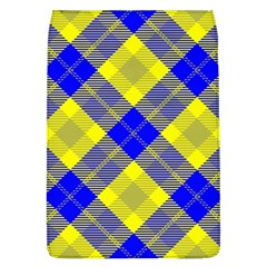 Smart Plaid Blue Yellow Flap Covers (l)  by ImpressiveMoments