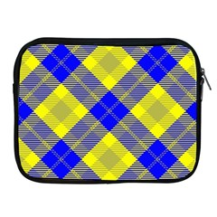 Smart Plaid Blue Yellow Apple Ipad 2/3/4 Zipper Cases by ImpressiveMoments