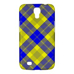Smart Plaid Blue Yellow Samsung Galaxy Mega 6 3  I9200 Hardshell Case by ImpressiveMoments