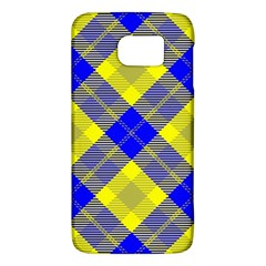 Smart Plaid Blue Yellow Galaxy S6 by ImpressiveMoments