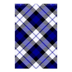 Smart Plaid Blue Shower Curtain 48  X 72  (small)  by ImpressiveMoments
