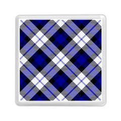 Smart Plaid Blue Memory Card Reader (square)  by ImpressiveMoments