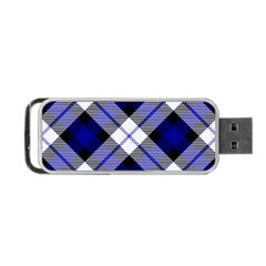 Smart Plaid Blue Portable Usb Flash (one Side) by ImpressiveMoments
