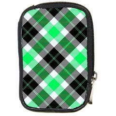 Smart Plaid Green Compact Camera Cases by ImpressiveMoments