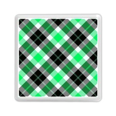 Smart Plaid Green Memory Card Reader (square)  by ImpressiveMoments