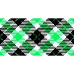 Smart Plaid Green You Are Invited 3d Greeting Card (8x4)  by ImpressiveMoments