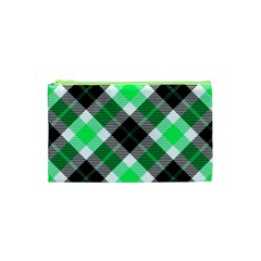 Smart Plaid Green Cosmetic Bag (xs)