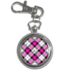 Smart Plaid Hot Pink Key Chain Watches by ImpressiveMoments