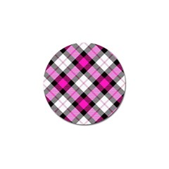Smart Plaid Hot Pink Golf Ball Marker by ImpressiveMoments