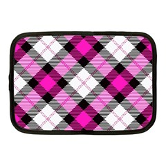 Smart Plaid Hot Pink Netbook Case (medium)  by ImpressiveMoments