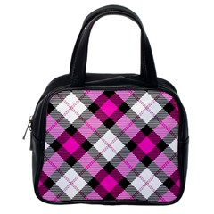 Smart Plaid Hot Pink Classic Handbags (one Side) by ImpressiveMoments