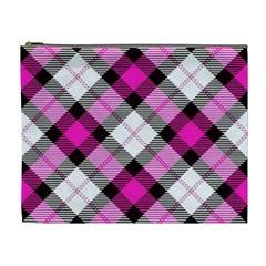 Smart Plaid Hot Pink Cosmetic Bag (xl) by ImpressiveMoments