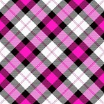 Smart Plaid Hot Pink Laugh Live Love 3D Greeting Card (8x4)  Inside