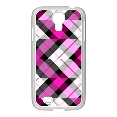 Smart Plaid Hot Pink Samsung Galaxy S4 I9500/ I9505 Case (white) by ImpressiveMoments