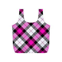 Smart Plaid Hot Pink Full Print Recycle Bags (s)  by ImpressiveMoments