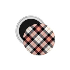 Smart Plaid Peach 1 75  Magnets by ImpressiveMoments