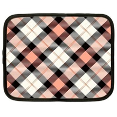 Smart Plaid Peach Netbook Case (xl)  by ImpressiveMoments