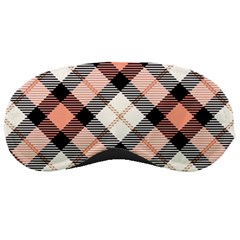 Smart Plaid Peach Sleeping Masks by ImpressiveMoments