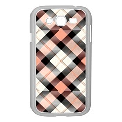 Smart Plaid Peach Samsung Galaxy Grand Duos I9082 Case (white) by ImpressiveMoments