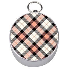 Smart Plaid Peach Silver Compasses by ImpressiveMoments