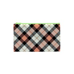 Smart Plaid Peach Cosmetic Bag (xs) by ImpressiveMoments