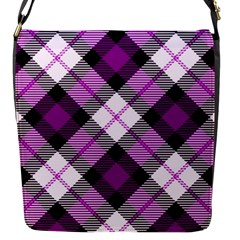 Smart Plaid Purple Flap Messenger Bag (s) by ImpressiveMoments