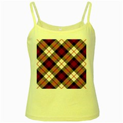 Smart Plaid Red Yellow Spaghetti Tanks