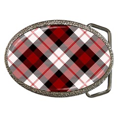 Smart Plaid Red Belt Buckles