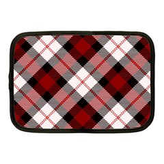 Smart Plaid Red Netbook Case (medium)  by ImpressiveMoments