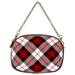 Smart Plaid Red Chain Purses (two Sides)  by ImpressiveMoments