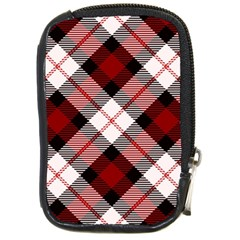 Smart Plaid Red Compact Camera Cases by ImpressiveMoments