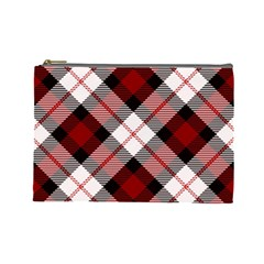Smart Plaid Red Cosmetic Bag (large)  by ImpressiveMoments