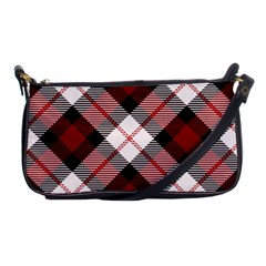 Smart Plaid Red Shoulder Clutch Bags