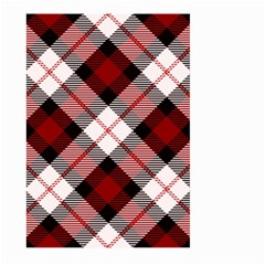 Smart Plaid Red Large Garden Flag (two Sides) by ImpressiveMoments