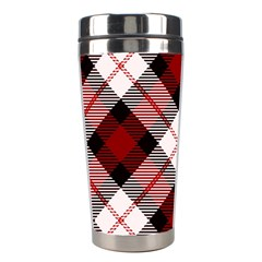 Smart Plaid Red Stainless Steel Travel Tumblers by ImpressiveMoments