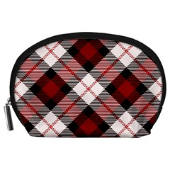 Smart Plaid Red Accessory Pouches (large)  by ImpressiveMoments