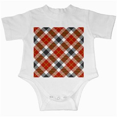 Smart Plaid Warm Colors Infant Creepers by ImpressiveMoments