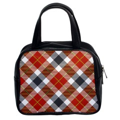 Smart Plaid Warm Colors Classic Handbags (2 Sides) by ImpressiveMoments
