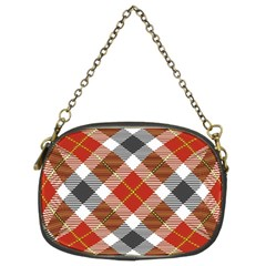 Smart Plaid Warm Colors Chain Purses (two Sides)  by ImpressiveMoments