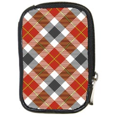 Smart Plaid Warm Colors Compact Camera Cases by ImpressiveMoments