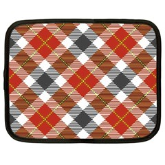 Smart Plaid Warm Colors Netbook Case (xxl)  by ImpressiveMoments