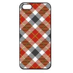 Smart Plaid Warm Colors Apple Iphone 5 Seamless Case (black) by ImpressiveMoments