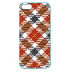 Smart Plaid Warm Colors Apple Seamless Iphone 5 Case (color) by ImpressiveMoments