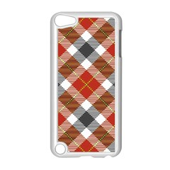 Smart Plaid Warm Colors Apple Ipod Touch 5 Case (white) by ImpressiveMoments