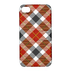Smart Plaid Warm Colors Apple Iphone 4/4s Hardshell Case With Stand by ImpressiveMoments