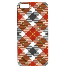 Smart Plaid Warm Colors Apple Iphone 5 Hardshell Case With Stand by ImpressiveMoments